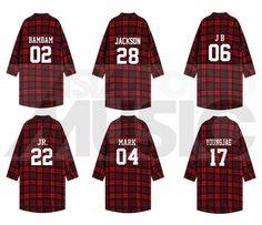 GOT7 - Chemise longue à carreaux - BAMBAM 02 (Red & Black) (Taille unique) - ASIAWORLDMUSIC - Site de vente en ligne des magasins MUSICA