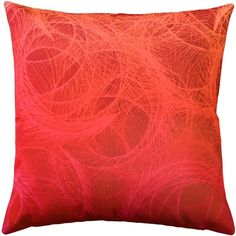 Feather Swirl Red Throw Pillow is part of Red Home Accessories Style Feather Swirl Red Throw Pillow swirling collage of feathers covers the front of this vibrant throw pillow The feath - Red Throw Pillows, Throw Pillow Sets, Decorative Throw Pillows, Toss Pillows, Accent Pillows, Red Home Accessories, Red Home Decor, Machine Wash Pillows, Feathers