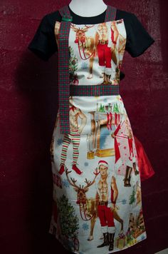 Full Apron Rugged Hunks Apron Open me Up by TheElliottsCloset