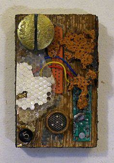 Cellular: found object assemblage. $50.00, via Etsy.
