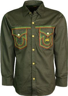 Mens Rasta Shirt Full Front Button Closure Pure Cotton (Medium, Dark Olive) Raw Blue http://www.amazon.co.uk/dp/B00K2I2GRK/ref=cm_sw_r_pi_dp_3AtTub02C1TTS