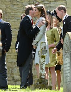 William and Kate attended the wedding of Lady Sarah's daughter, Emily McCorquodale in June 2012