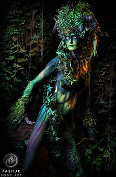 Pashur: the Picasso of body painting! Pashur: the Picasso of body painting . - Pashur: the Picasso of body painting! Pashur: the Picasso of body painting! Effective pictures we o - Picasso, Faerie Costume, Green Man, Faeries, Body Art, Creatures, Photoshop, Illustration, Artwork