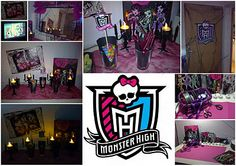 monster high sleep over Slumber Parties, Sleepover, Monster High Party Supplies, 7th Birthday, Birthday Parties, Party Ideas, Head Bands, Boxes, Homemade