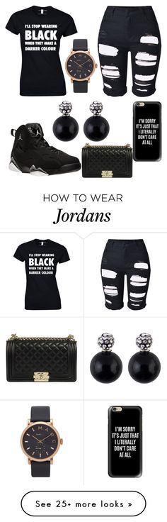 """""""Black All The Time"""" by lizzyj-cash on Polyvore featuring NIKE, Casetify, Topshop and Marc Jacobs"""