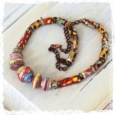 Boho breve collana collana etnica carta regalo di