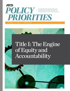 Title I is the engine of equity and accountability in the Elementary and Secondary Education Act. Read about it here. Curriculum Design, Curriculum Planning, Walden University, Education Policy, Learning Theory, Educational Leadership, Professional Development, Priorities, Schools