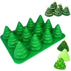 Want to add some Christmas cheer to your baking this holiday season? This amazing Christmas Tree Baking Mold will help you bake your favourite goodies with a Candy Decorations, Chocolate Decorations, Christmas Tree Cake, Christmas Treats, Cake Decorating Techniques, Cake Decorating Tips, Bolo Fondant, Novelty Birthday Cakes, Tool Cake