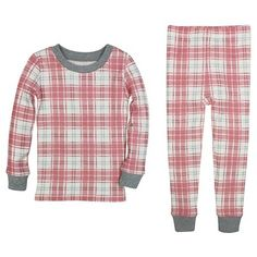 Toddler Girls' Burt's Bees Baby Plaid Organic Cotton Tight Fit 2-Piece Pajama…