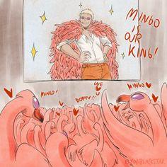 MINGO IS OUR KING ! - Donquixote Doflamingo One piece flamingos