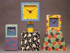 Sowden table clocks Acapulco, Excelsior, and American memphis design Memphis Art, Memphis Milano, Memphis Design, Memphis Furniture, Decoration, Art Decor, 80s Design, Graphic Design, Design Movements