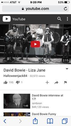 David Bowies first hit single! Liza Jane