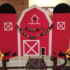 Farm barn craft--lets make a big barn for the door