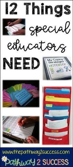 12 Things Special Educators Need