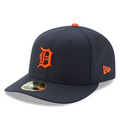 newest fa687 ecc6e Men s Detroit Tigers New Era Navy Road Authentic Collection On-Field Low  Profile 59FIFTY Fitted Hat