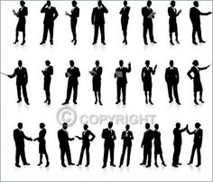 Business People Silhouette Super Set - Stock Footage | by 5@iconspro