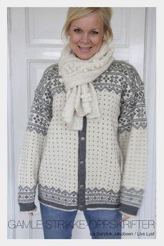Livs Lyst: DEN STORE KOFTEJAKTEN Norwegian Knitting, Fair Isle Knitting Patterns, Vogue Knitting, Knit Fashion, Vintage Knitting, Diy Clothes, Knit Crochet, Creative, Google
