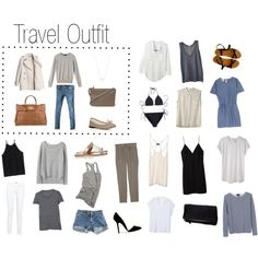 Travel outfits mix and match