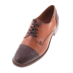 Pikolinos 969 7048 Womens Ladies Cognac Leather Brogue Shoe - £65.99 - Top quality Pikolinos footwear from Barnets Shoes