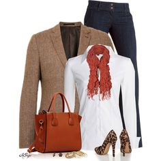 """Classic White Blouse for Fall - Casual Friday Style"" by kginger on Polyvore"