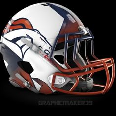 The NFL is always looking for ways to evolve and create a new and exciting look for their teams while also maintaining the heritage of these storie. Denver Broncos Helmet, Denver Broncos Womens, Denver Broncos Football, Go Broncos, Broncos Fans, Cincinnati Bengals, Indianapolis Colts, New Nfl Helmets, College Football Helmets