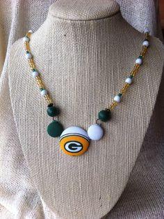 Wisconsin Football Fan Necklace Handsewn Fabric by ButtonsAFluttur, $30.00