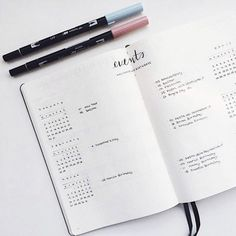 And this totally chill event tracker: | 24 Minimalist Bullet Journal Layouts To Soothe Your Weary Soul
