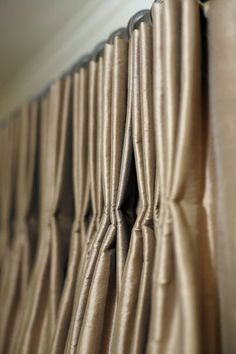 Hand stitched Traditional Pleats Top treatments #Window #draperies #curtains