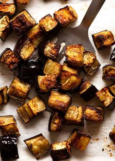 Tray of roasted eggplant for Pasta all Norma - Eggplant Pasta Eggplant Pasta, Cooking Eggplant, Eggplant Dishes, Roast Eggplant, Italian Pasta Dishes, Recipetin Eats, Vegetarian Main Dishes, How To Cook Pasta, Food Videos