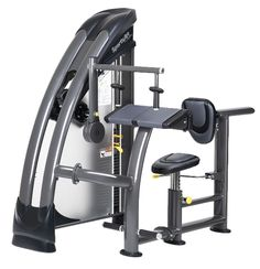 STATUS SERIE S-925 Triceps extension  - Anti slip voet platen met hiel ondersteuning - Extra groot zitvlak - rugleuning is in diepte instelbaar