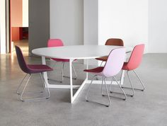 Insula Meeting Table designed by Jensen and Ernst.
