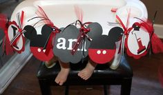 Hostess with the Mostess® - Mickey Mouse 1st Birthday Party! High Chair Decoration