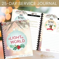 Christ-centered Christmas!  This is a #LIGHTtheWORLD - free printable 25-day journal by the Red Headed Hostess!  This will make your Christmas incredibly Christ-centered!