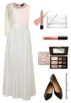 Vintage, girly me by crownof-floralbeauty19 on Polyvore featuring polyvore, fashion, style, Ted Baker, Topshop, MICHAEL Michael Kors, Too Faced Cosmetics, NYX, LORAC and vintage