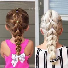 "973 Me gusta, 35 comentarios - Cami  Toddler Hair Ideas (@toddlerhairideas) en Instagram: ""TWINNING with my girl today! We each have a center pull-through braid! I wasn't able to get a pic…"""