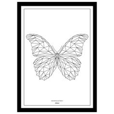 New format Limited edition Geometric Butterfly Art print from Martyn White Designs. Available in multiple sizes, with or without border. Each print is signed and numbered.