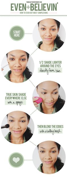 Our favorite technique for evening out your skin tone!