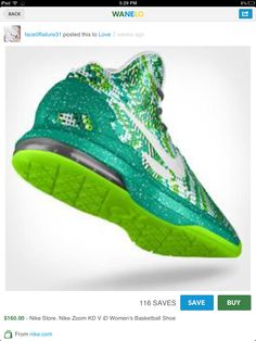 I play basketball and my team color is green so green sparkly high tops, OMG!!