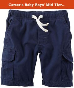 Carter's Baby Boys' Mid Tier Shorts - Navy - 3 Months. Mid Tier Shorts (Baby) - Navy Carter's is the leading brand of children's clothing, gifts and accessories in America, selling more than 10 products for every child born in the U.S. The designs are based on a heritage of quality and innovation that has earned them the trust of generations of families.