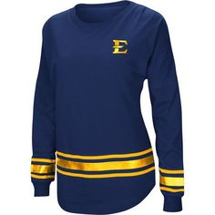 low priced a0207 b44e1 Colosseum Athletics Women s East Tennessee State University Humperdinck  Oversize Long Sleeve T-shirt (Navy