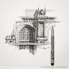 скетчи архитектуры: 26 тыс изображений найдено в Яндекс.Картинках