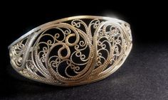 Silver Filigree Cuff Bracelet Veraison Series on Etsy by Meliciap, $325.00
