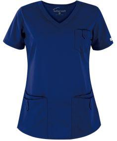 Butter-Soft Scrubs Women's Rounded Top - M - Turquoise Black Velvet, Red Scrubs, Orange Scrubs, Scrubs Uniform, Spa Uniform, Hotel Uniform, Uniform Advantage, Medical Scrubs, Nursing Scrubs