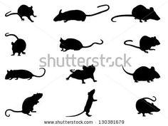Mice Silhouettes by Nebojsa Kontic, via Shutterstock