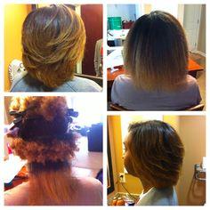 Straightened Natural Hair