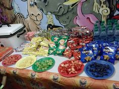 Food in power rangers colors for party