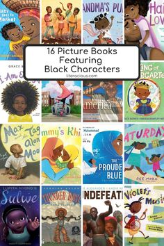 16 Picture Books Featuring Black Characters Black Characters, Book Lists, Books, Pictures, Livros, Book, Libros, Reading Lists, Book Illustrations