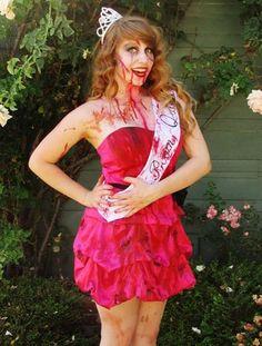 6 ways to reuse a bridesmaids dress- zombie bride costume