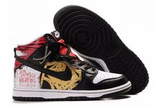 new product 606e8 86732 Nike Dunk SB Mid Gul Sort Rød Herre Nike Air Jordan Retro, Air Jordan Shoes