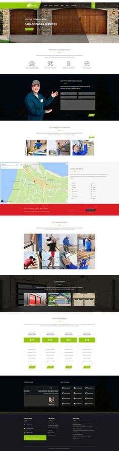 Best garage Wordpress Theme For Garage Door Installation and Repair Service Companies - oLanding